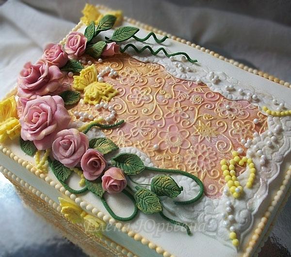 """Торт """"Винтажная шкатулка"""", детали"""