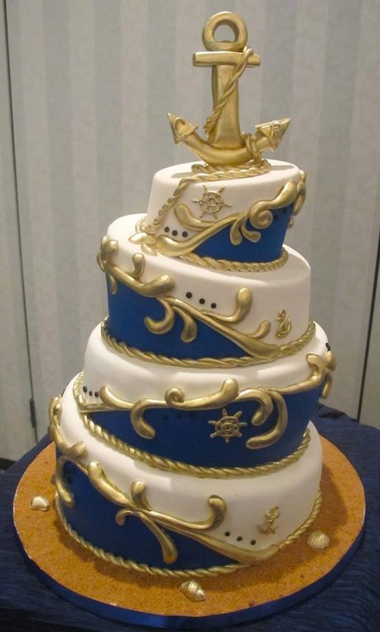 фото торты на морскую тему