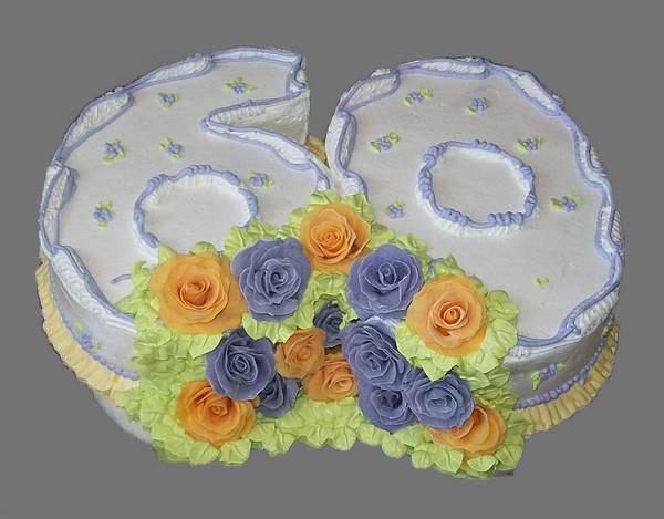 Торт на 60-летие, 3,2 кг