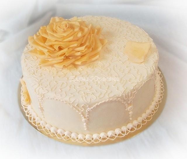 """Юбилейный торт, вес 2,8 кг, внутри """"Шкодин торт"""""""