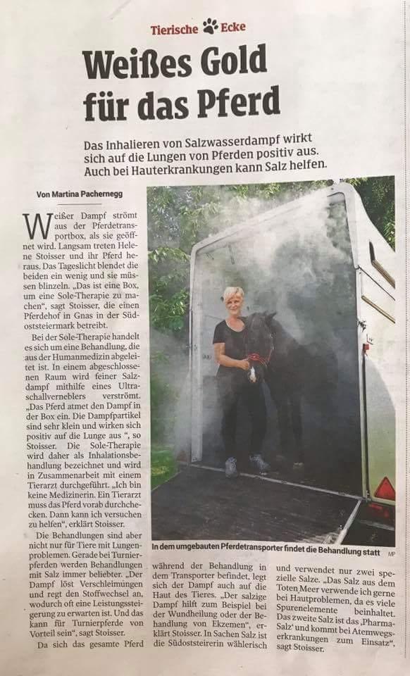 Kleine Zeitung vom 30.9.2018