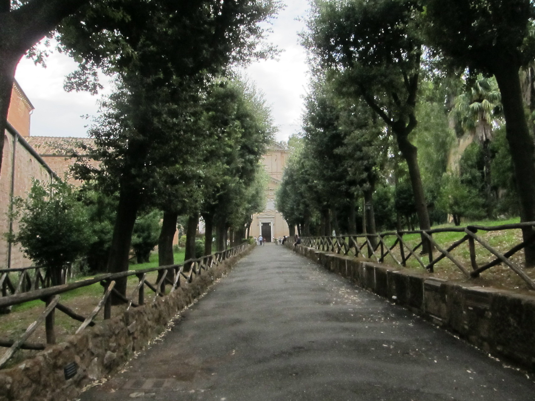 この50mほどの道を聖パウロは歩かされました