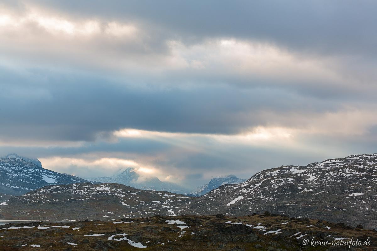 Bei Sonnenaufgang auf dem Sognefjellet