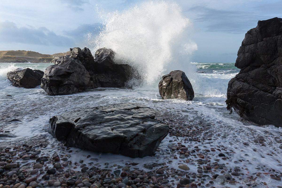 Wellenbrecher, Hebrideninsel Islay
