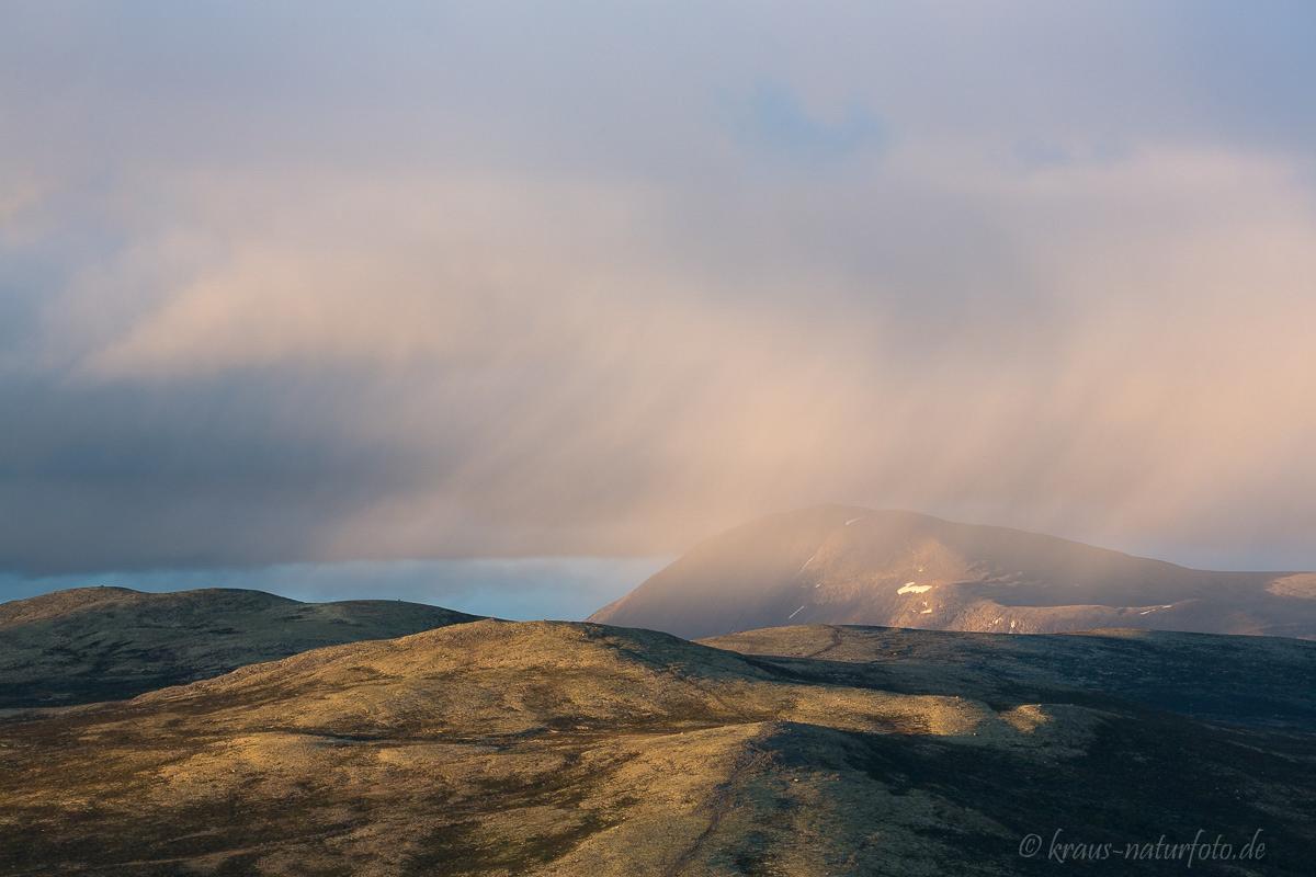 Regenwolken über dem Dovrefjell