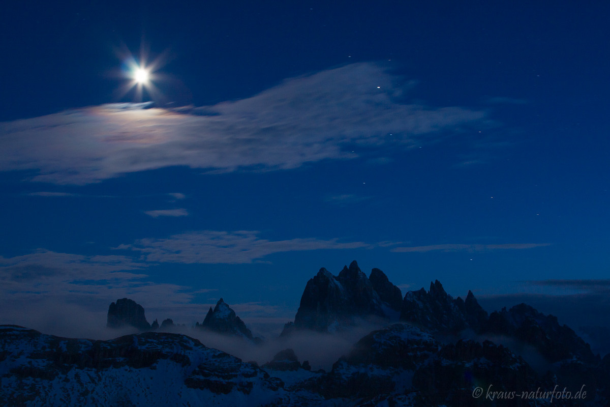 Mondschein über der Cima Cadin