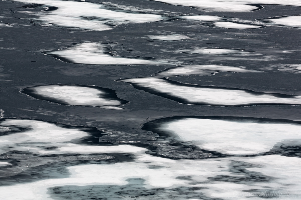 Eis auf dem Djupvatnet