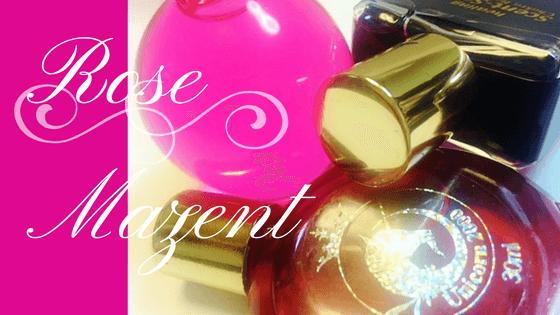 マゼンタ(ローズ)は「配慮」「成熟」の意味を持ち、第8チャクラの色です
