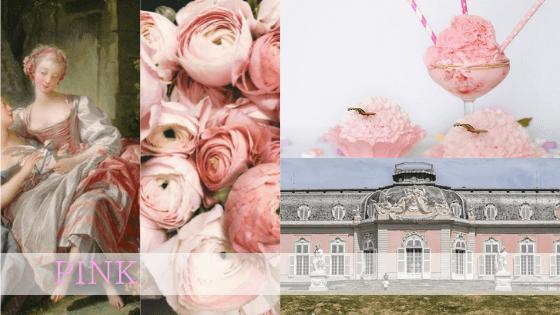 ピンク色は女性性の色でもある反面、女性的な優美さに隠れた強さも意味します。