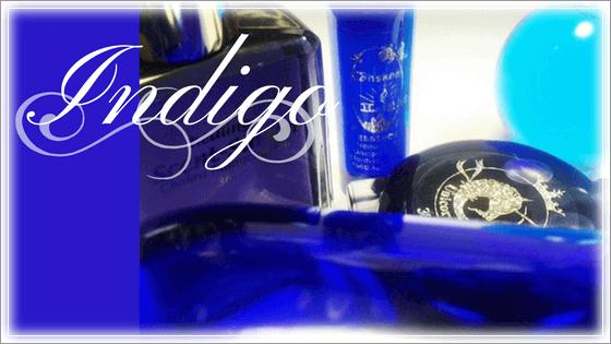 藍(インディゴ)色の意味と色彩象徴。第6チャクラは「直観」を意味します。カラーセラピーではインディゴ・パープル・ロイヤルブルーなど3次色が相応します