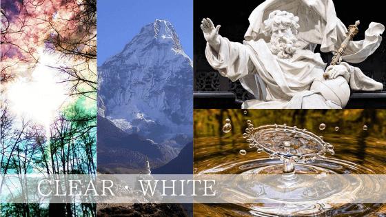 白色(クリア)は唯一絶対の神の光の色であり、すべての色を均衡に持つ光の色
