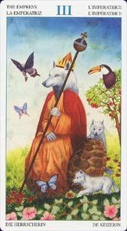 Tarot des animaux seigneurs Impératrice