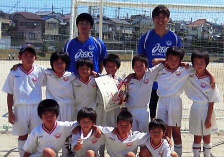 平成22年度 夏季ミニサッカー大会 3年の部 ブロック優勝