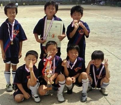 平成21年度 夏季ミニサッカー大会 2年の部 Aチーム ブロック優勝