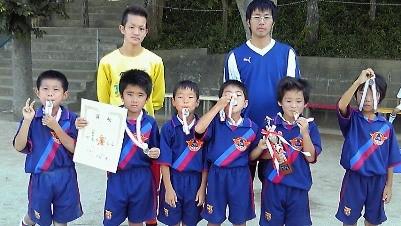 平成21年度 夏季ミニサッカー大会 2年の部 Bチーム ブロック準優勝
