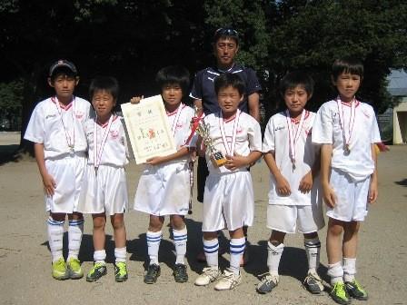 平成23年度 夏季ミニサッカー大会 4年の部 ブロック準優勝