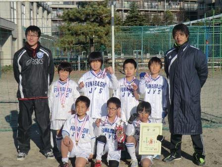 平成24年度 冬季ミニサッカー大会 3年生の部 Wブロック 優勝