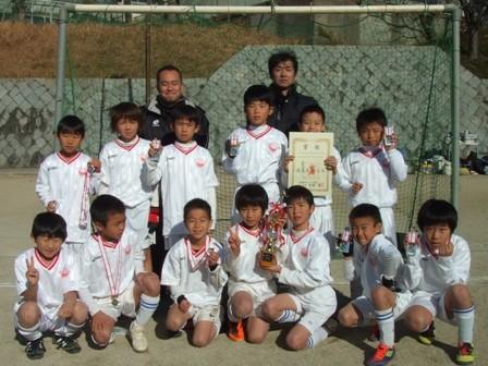 平成23年度  冬季ミニサッカー大会 3年の部 ブロック準優勝