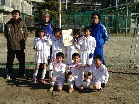 平成24年度 冬季ミニサッカー大会 3年生の部 Yブロック 3位