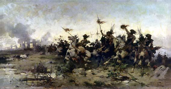 Alfredo Tominz, La battaglia di Aquileia, 1894 (Museo Revoltella)