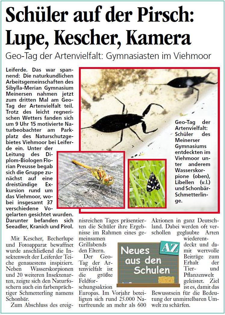 Aller-Zeitung 23.06.2012