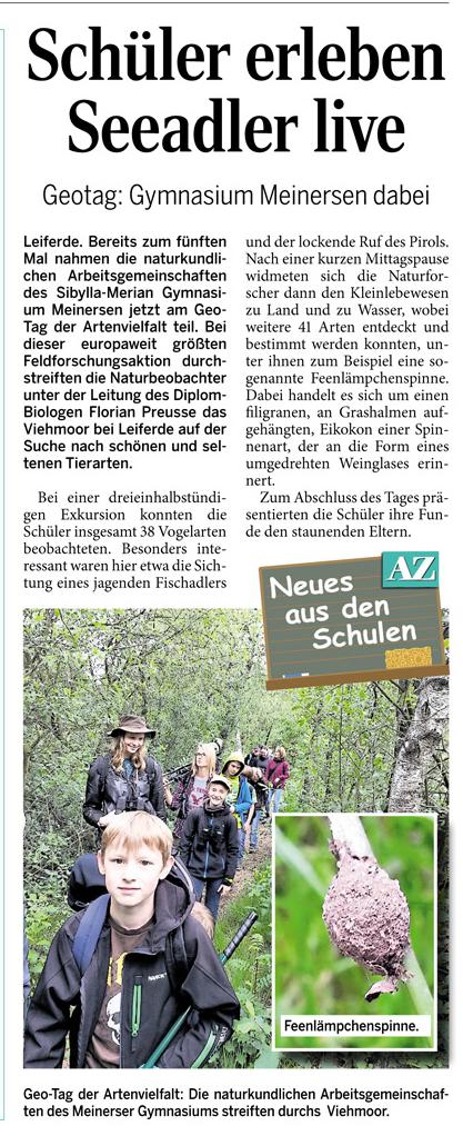 Aller Zeitung 18.06.2014