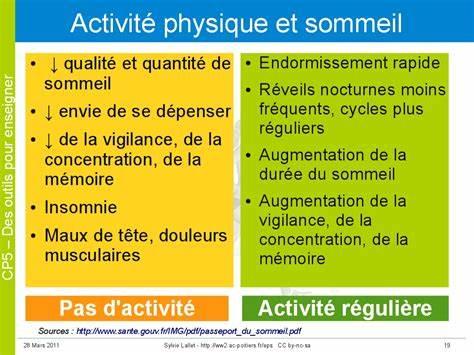 EXERCER UNE ACTIVITÉ PHYSIQUE RÉGULIÈRE EST UN GAGE DE BON SOMMEIL