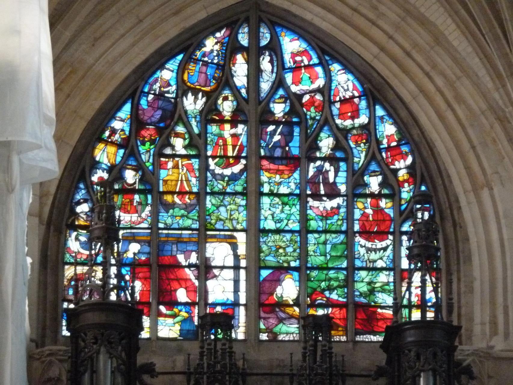 un des vitraux de Notre Dame