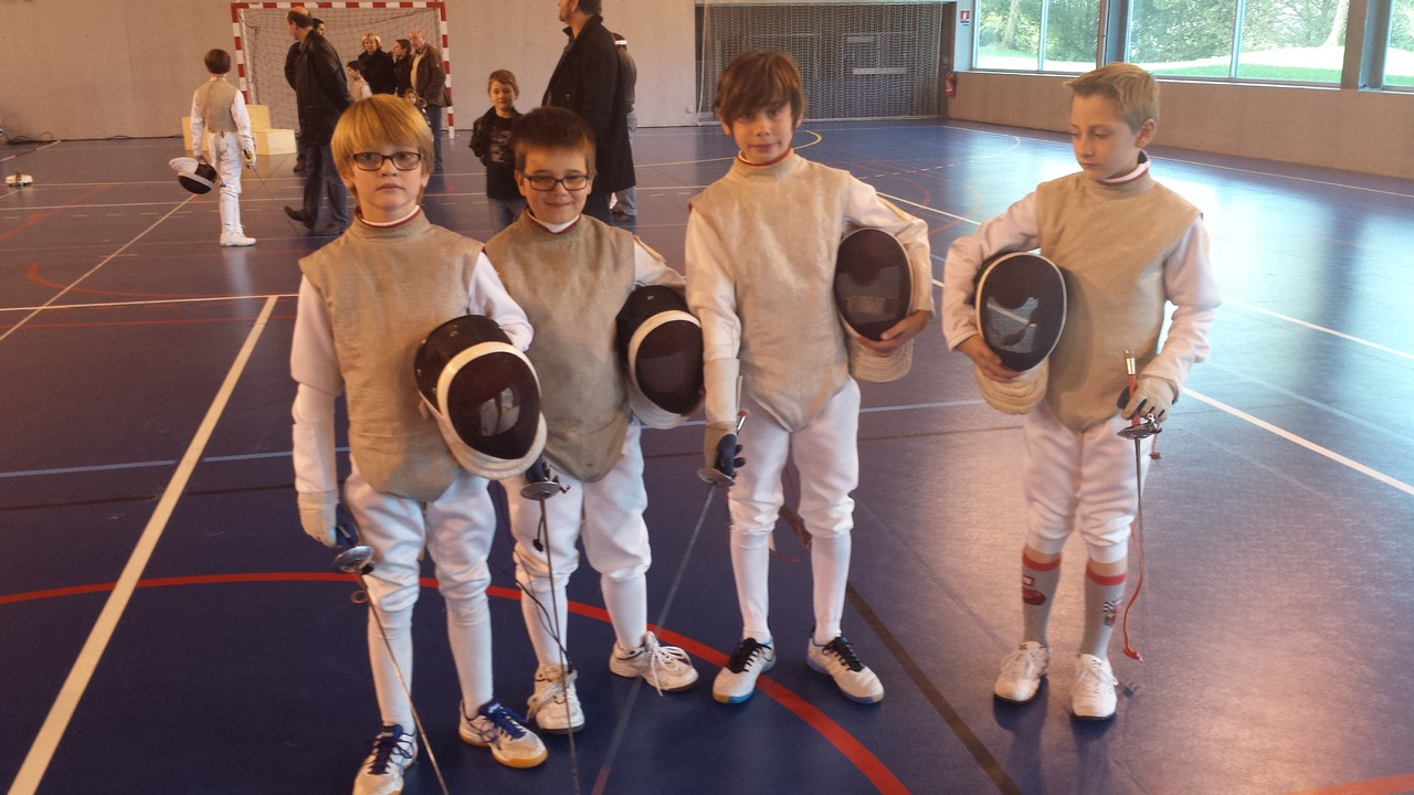 Les pupilles sont prêts : Louis-Marie, Adrien, Victor et Louis