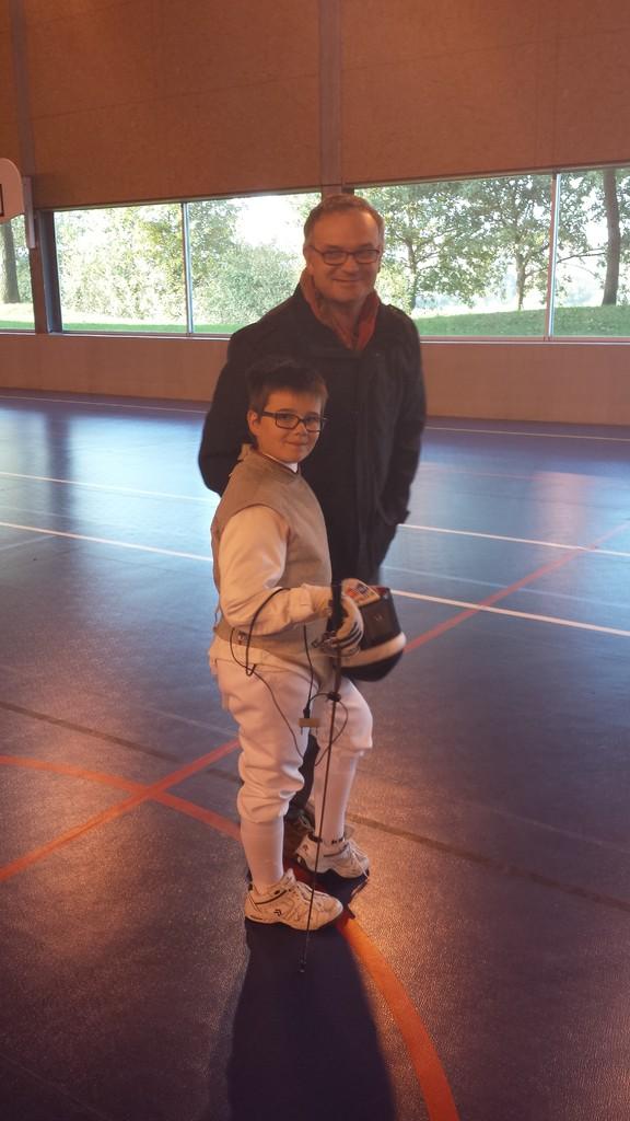 Adrien et son papa