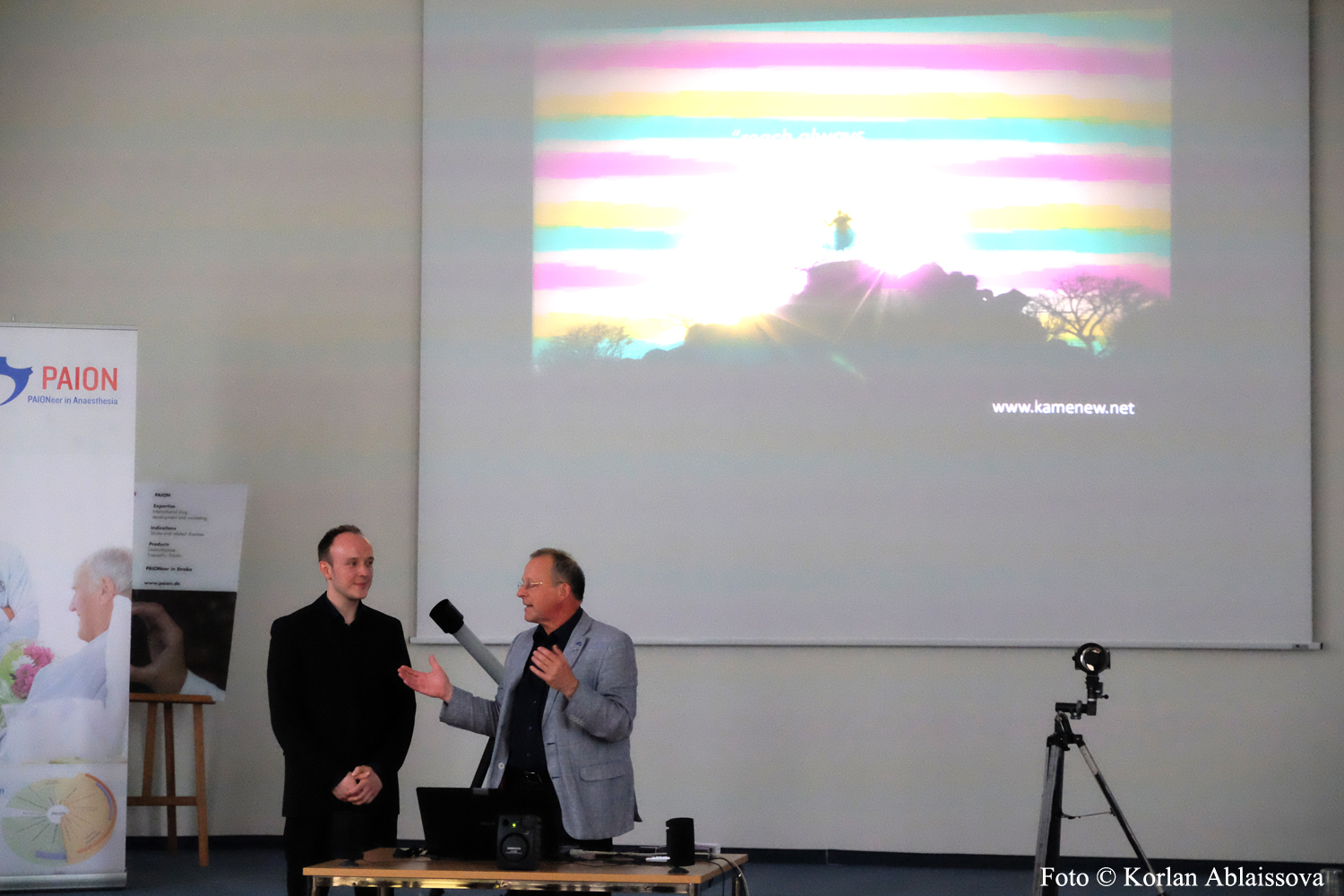 Eugen Kamenew (Astrophotographer of the Year 2014) and Dr. Wolfgang Söhngen, Founder, Chief Executive Officer of PAION AG