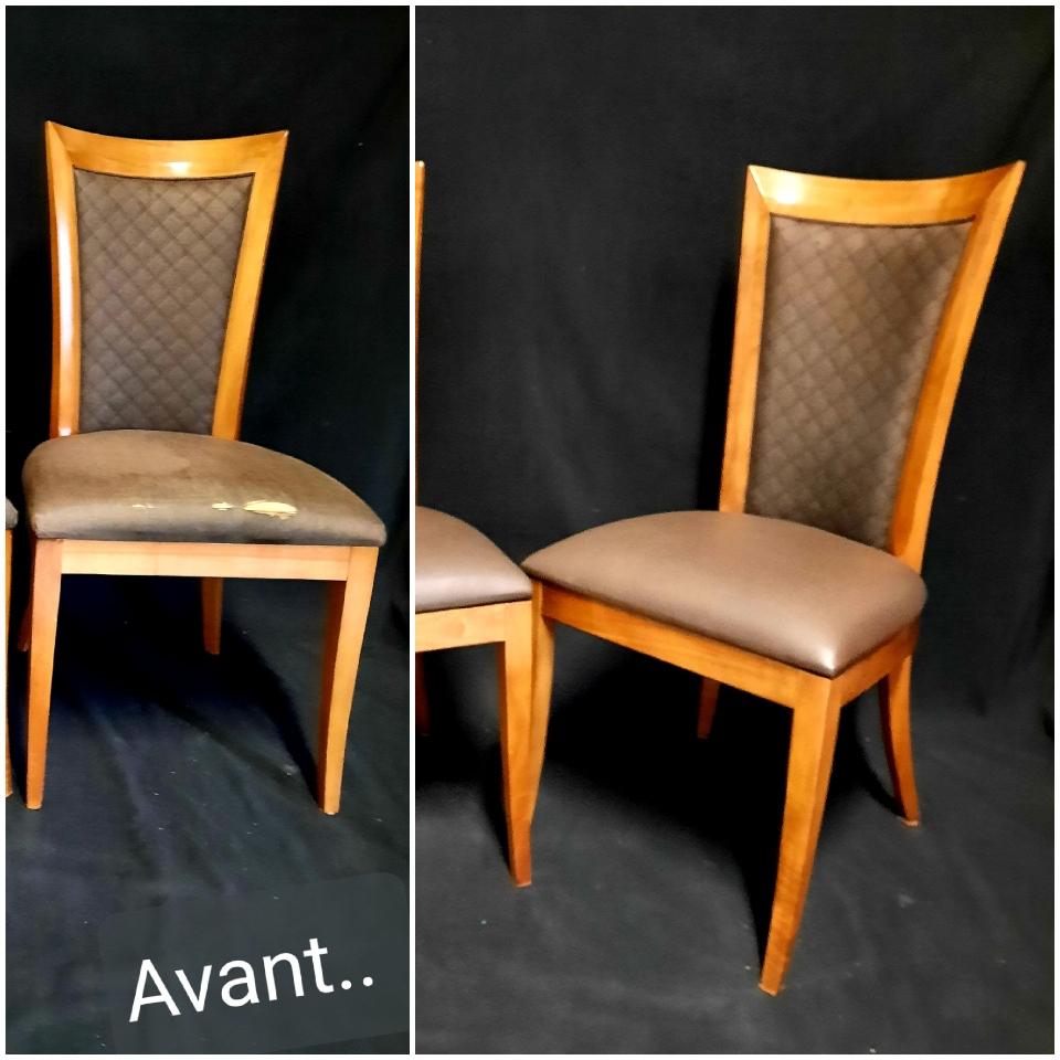 Rénovation de chaises de salle à manger