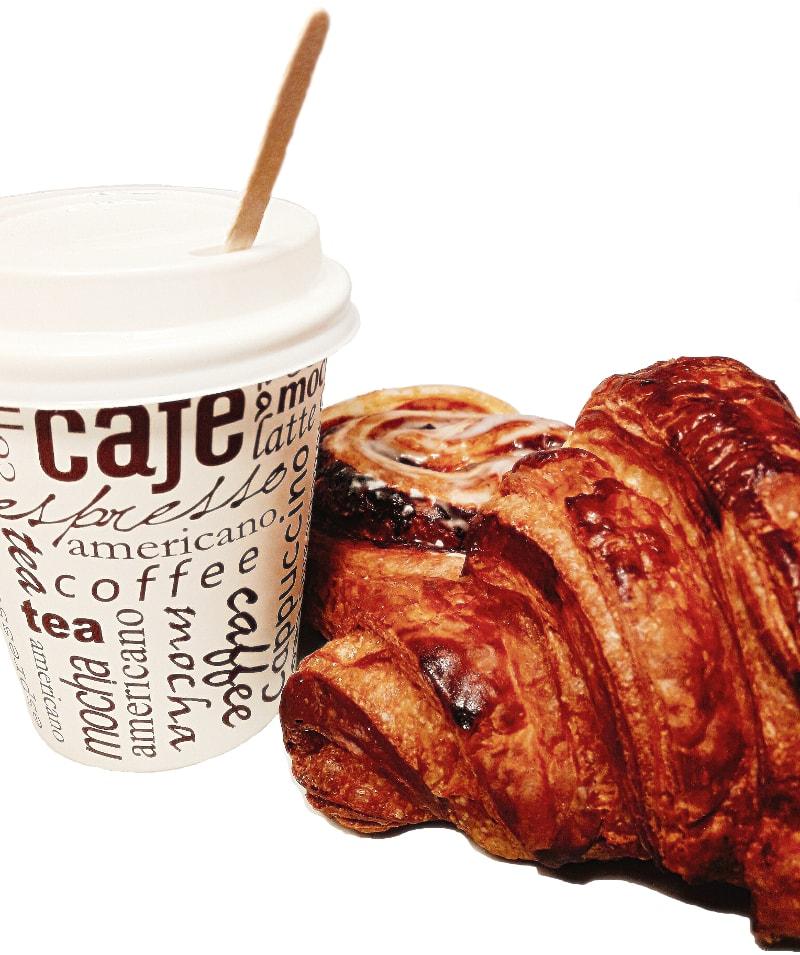 Formule café (à emporter) : un café 25cl + un croissant au choix