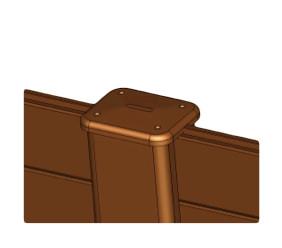 Abdeckkappe - BxHxL: 14x18x2,5 cm