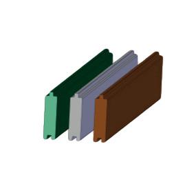 Nut- und Federprofil - BxH: 3,8x13 cm