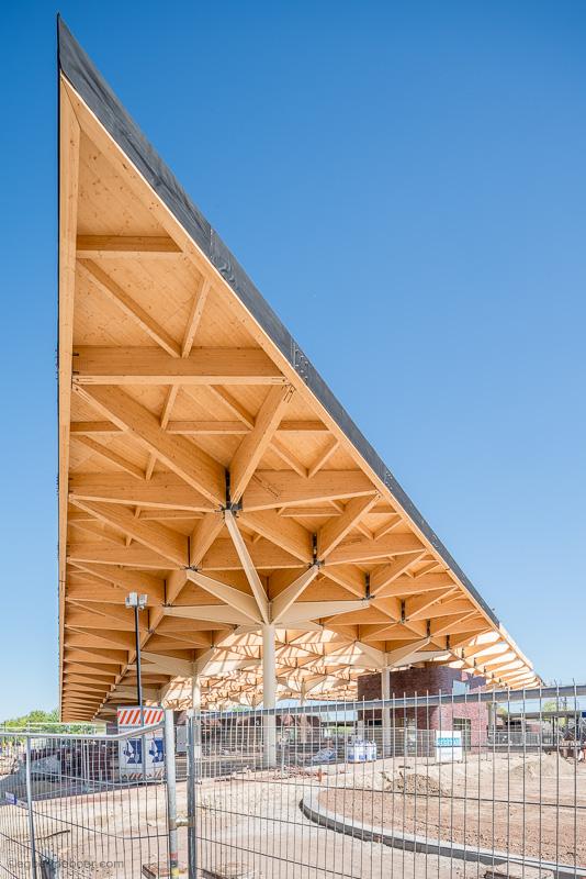 egbertdeboer.com, Dakconstructie vakwerk houten spanten, Powerhouse Company, De Zwarte Hond, Assen, NS, Spoorbouwmeester, Assen, FlorijnAs, Hegeman, Prorail