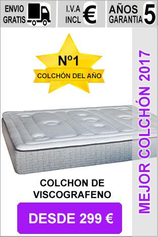 EL MEJOR COLCHÓN DE VISCO GRAFENO 2018