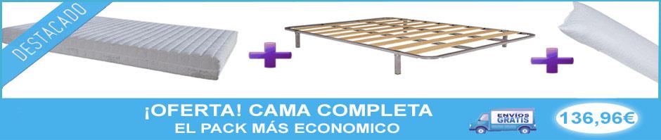 oferta de cama completa, pack economico