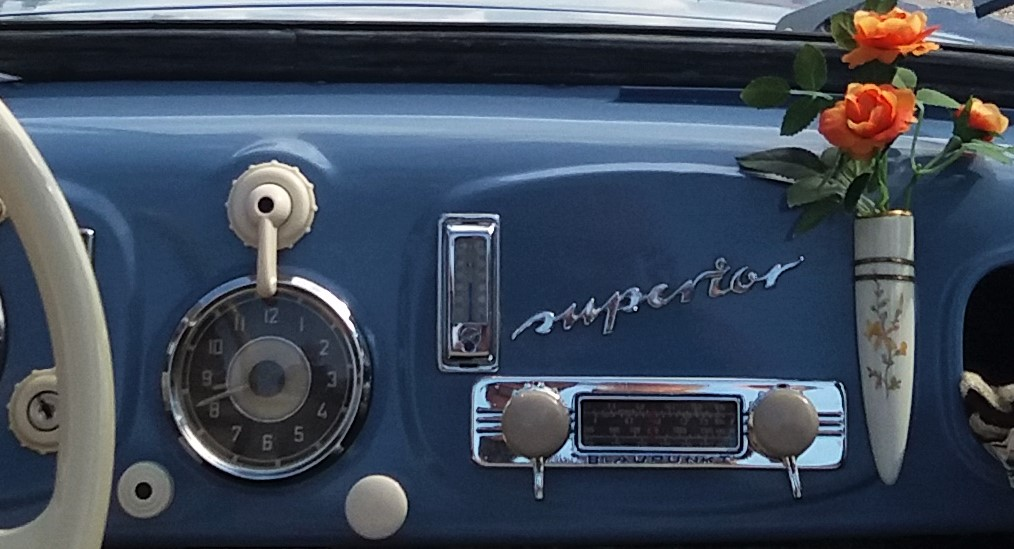 Blaupunkt Radio im Gudbrod Superior Luxus 700 E, Baujahr 1954, Classic Gala Schwetzingen 2018