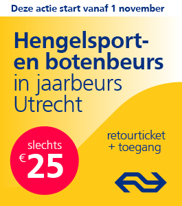 Met de NS naar de Hengelsport- en Botenbeurs in de Jaarbeurs Utrecht