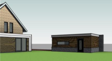 ontwerp garage bij nieuwbouw woning fam. Schuil