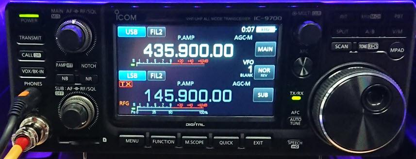 Der IC-9700 im Satellitenbetrieb