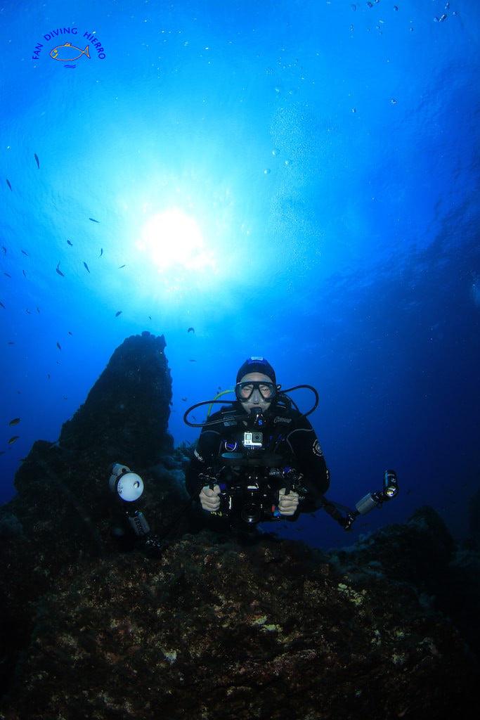 Baja Ribera, einer meiner Lieblingstauchplätze. Aufgenommen von Günter Baumgartl, Fan Diving El Hierro, 14.11.2020