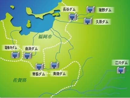 福岡市 ダム貯水量