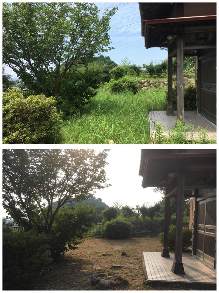 福岡県須恵町での草刈作業の写真