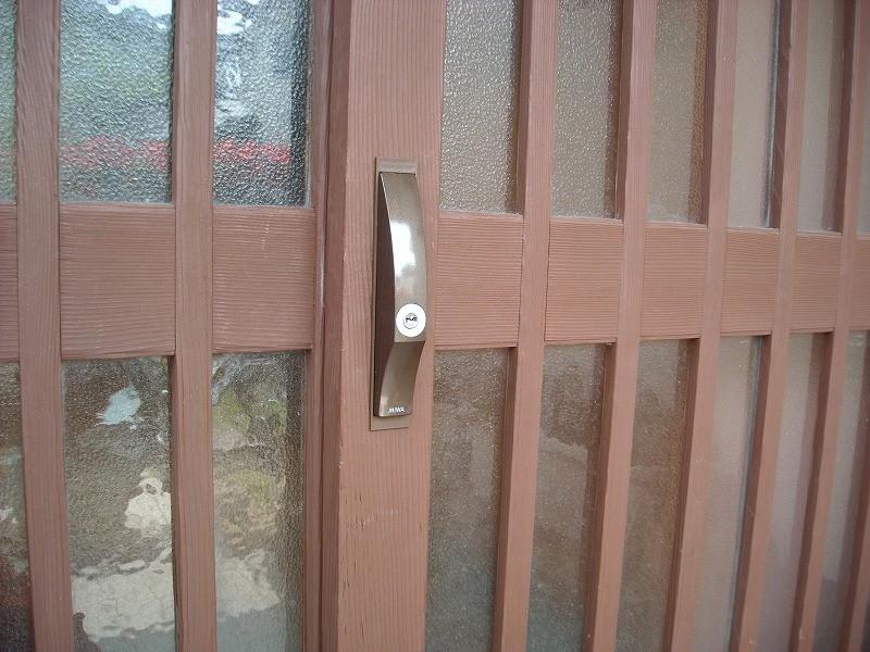 引き違い戸鍵5