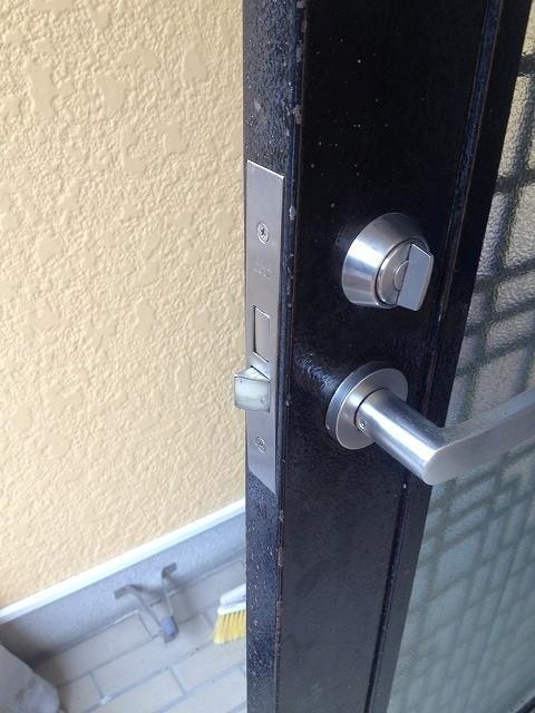 取り付け不良の鍵修繕6