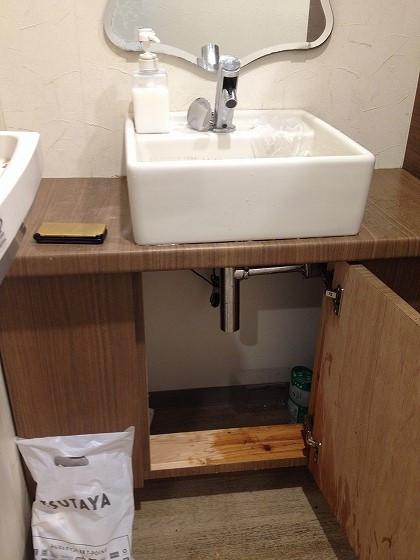 修理後の手洗い台