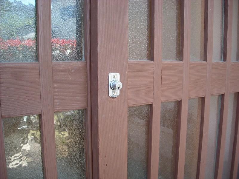 引き違い戸鍵3