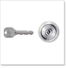 MIWA ディスクシリンダー鍵穴